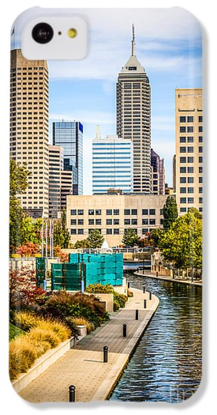 Indianapolis Skyline Picture Of Canal Walk In Autumn IPhone 5c Case by Paul Velgos