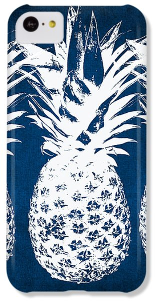 Indigo And White Pineapples IPhone 5c Case by Linda Woods