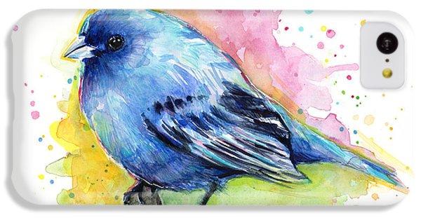 Indigo Bunting Blue Bird Watercolor IPhone 5c Case