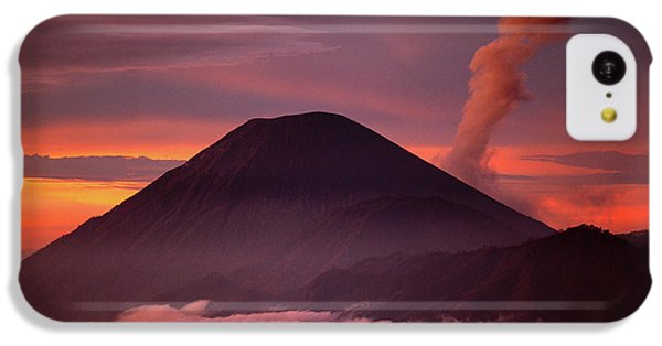 Mountain iPhone 5c Case - Indonesia Mt Semeru Emits A Plume by Jaynes Gallery
