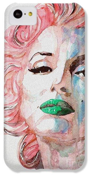 Marilyn Monroe iPhone 5c Case - Insecure  Flawed  But Beautiful by Paul Lovering