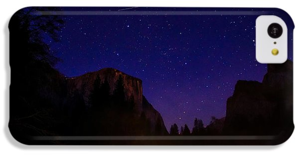 International Space Station Over Yosemite National Park IPhone 5c Case by Scott McGuire