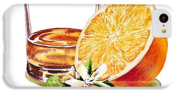 IPhone 5c Case featuring the painting Irish Whiskey And Orange by Irina Sztukowski