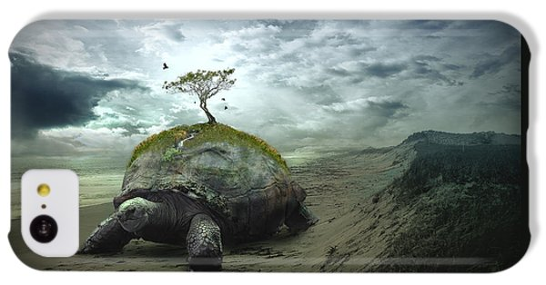 Turtle iPhone 5c Case - Iroquois Creation Story by Rick Mosher