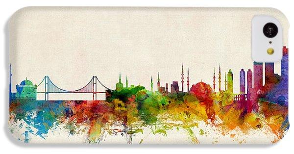 Turkey iPhone 5c Case - Istanbul Turkey Skyline by Michael Tompsett