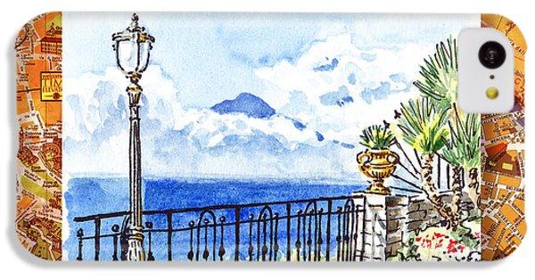 Italy Sketches Sorrento View On Volcano Vesuvius  IPhone 5c Case