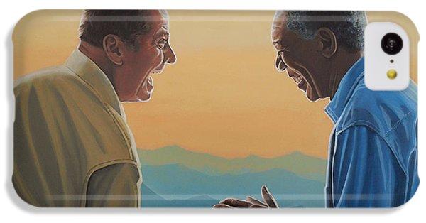 Jack Nicholson And Morgan Freeman IPhone 5c Case by Paul Meijering