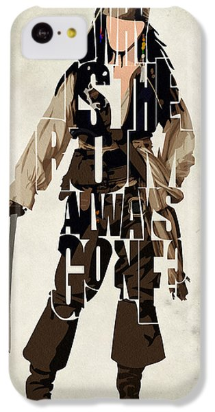 Jack Sparrow Inspired Pirates Of The Caribbean Typographic Poster IPhone 5c Case