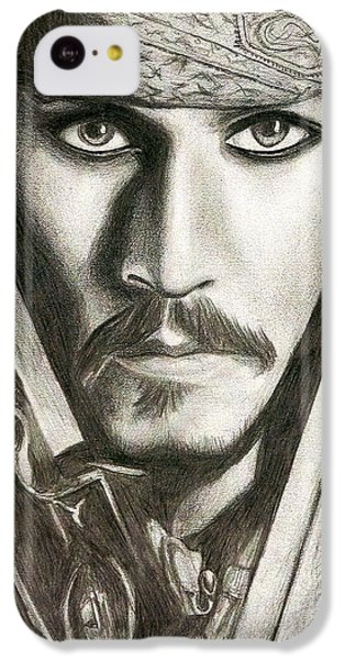 Jack Sparrow IPhone 5c Case by Michael Mestas