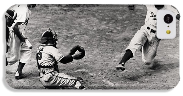 Jackie Robinson In Action IPhone 5c Case by Gianfranco Weiss