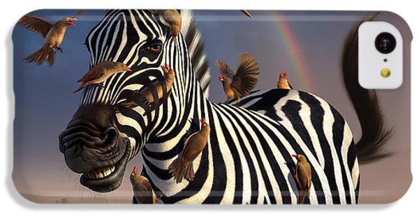 Zebra iPhone 5c Case - Jailbird by Jerry LoFaro