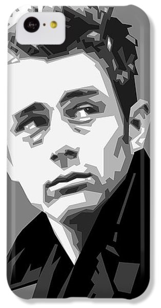 James Dean In Black And White IPhone 5c Case by Douglas Simonson
