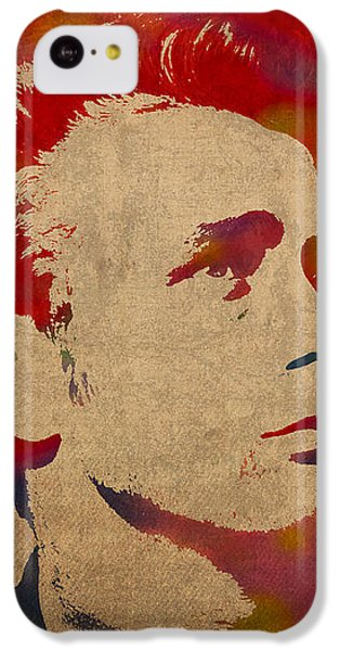 James Dean Watercolor Portrait On Worn Distressed Canvas IPhone 5c Case by Design Turnpike