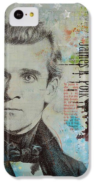 Washington Monument iPhone 5c Case - James K. Polk by Corporate Art Task Force