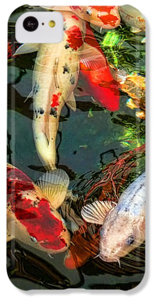 Japanese Koi Fish Pond IPhone 5c Case by Jennie Marie Schell