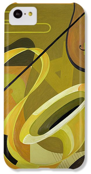 Trombone iPhone 5c Case - Jazz by Carolyn Hubbard-Ford
