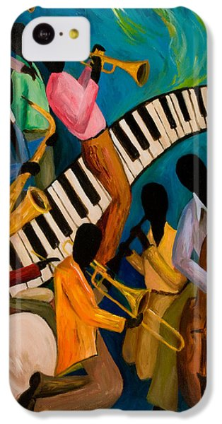 Jazz On Fire IPhone 5c Case by Larry Martin