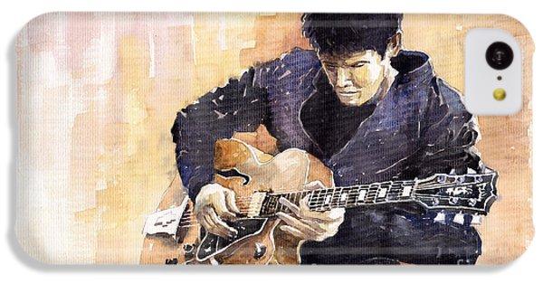 Impressionism iPhone 5c Case - Jazz Rock John Mayer 02 by Yuriy Shevchuk