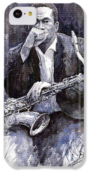 Jazz Saxophonist John Coltrane Black IPhone 5c Case by Yuriy  Shevchuk