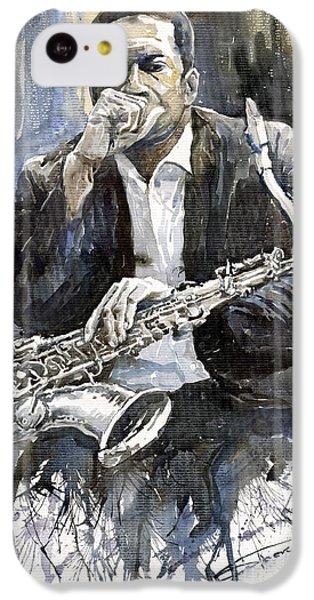 Jazz Saxophonist John Coltrane Yellow IPhone 5c Case by Yuriy  Shevchuk