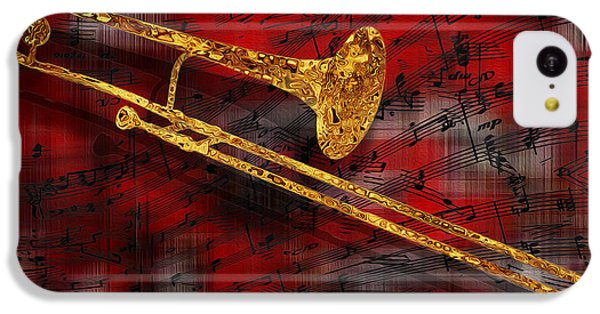 Trombone iPhone 5c Case - Jazz Trombone by Jack Zulli
