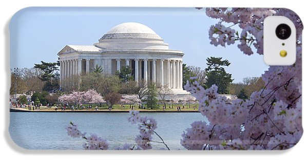 Jefferson Memorial - Cherry Blossoms IPhone 5c Case by Mike McGlothlen