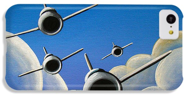 Airplane iPhone 5c Case - Jet Quartet by Cindy Thornton
