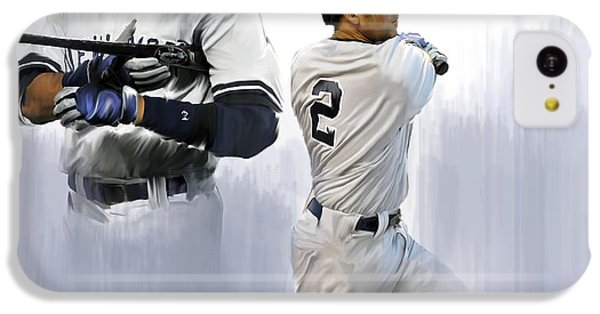 Jeter V Derek Jeter IPhone 5c Case by Iconic Images Art Gallery David Pucciarelli