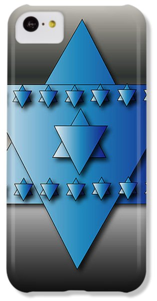 IPhone 5c Case featuring the digital art Jewish Stars by Marvin Blaine