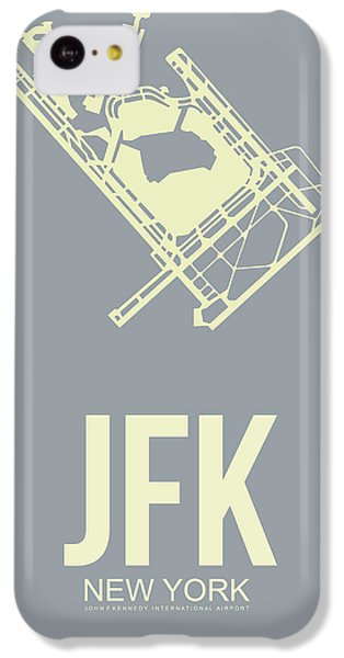 Jfk Airport Poster 1 IPhone 5c Case by Naxart Studio