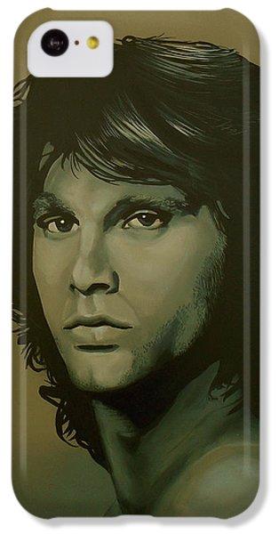Raven iPhone 5c Case - Jim Morrison Painting by Paul Meijering