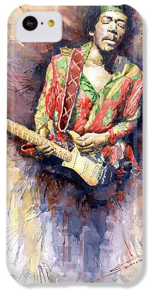 Jazz iPhone 5c Case - Jimi Hendrix 09 by Yuriy Shevchuk