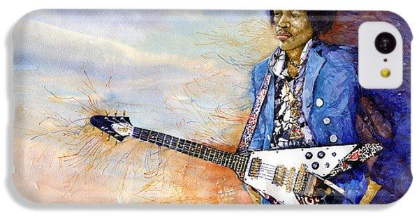 Figurative iPhone 5c Case - Jimi Hendrix 10 by Yuriy Shevchuk