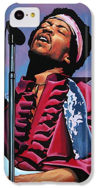 Knight iPhone 5c Case - Jimi Hendrix 2 by Paul Meijering