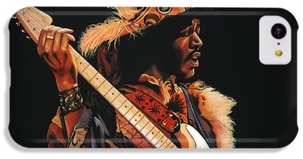 Knight iPhone 5c Case - Jimi Hendrix 3 by Paul Meijering
