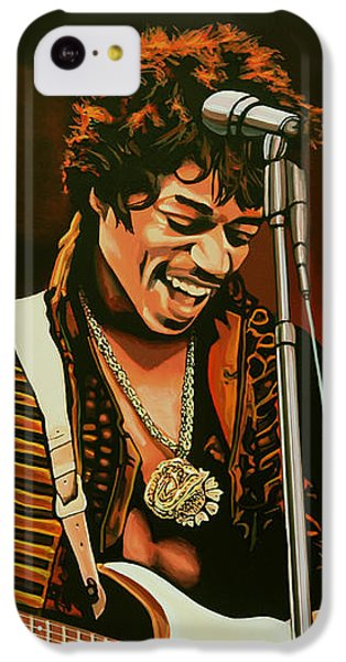 Knight iPhone 5c Case - Jimi Hendrix Painting by Paul Meijering