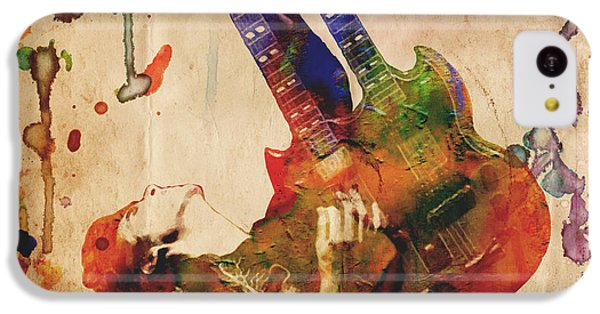 Jimmy Page - Led Zeppelin IPhone 5c Case by Ryan Rock Artist