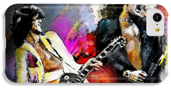 Jimmy Page And Robert Plant Led Zeppelin IPhone 5c Case by Miki De Goodaboom
