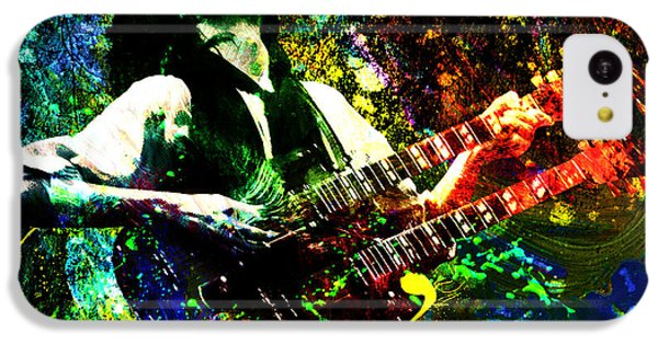 Jimmy Page - Led Zeppelin - Original Painting Print IPhone 5c Case by Ryan Rock Artist