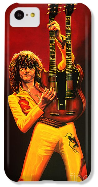 Jimmy Page Painting IPhone 5c Case by Paul Meijering