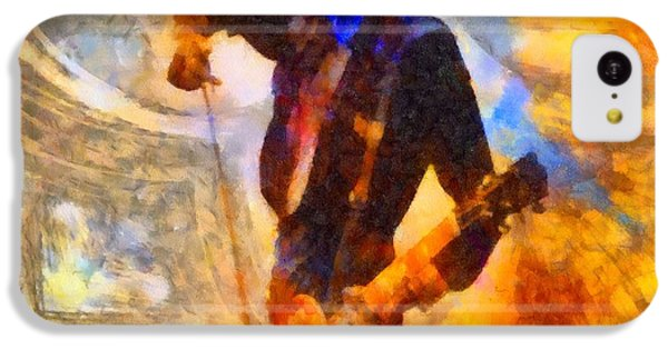 Jimmy Page Playing Guitar With Bow IPhone 5c Case by Dan Sproul