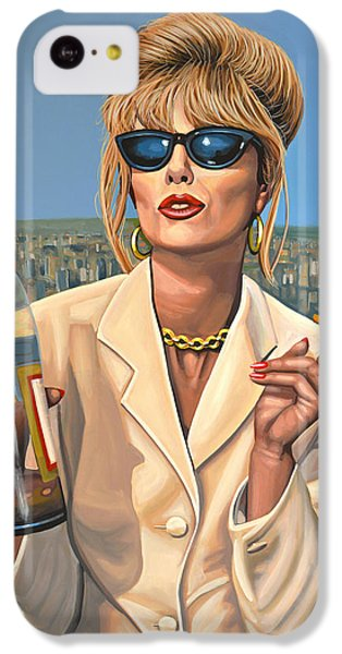 Joanna Lumley As Patsy Stone IPhone 5c Case by Paul Meijering