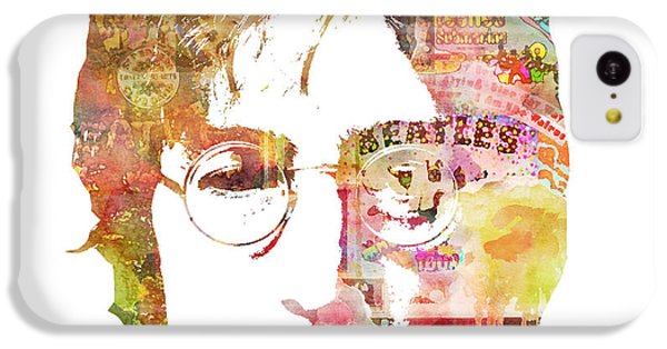 John Lennon IPhone 5c Case by Mike Maher