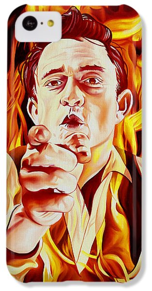 Johnny Cash And It Burns IPhone 5c Case