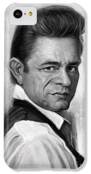 Johnny Cash IPhone 5c Case by Andre Koekemoer