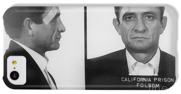 Johnny Cash Folsom Prison Large Canvas Art, Canvas Print, Large Art, Large Wall Decor, Home Decor IPhone 5c Case