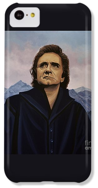 Johnny Cash Painting IPhone 5c Case by Paul Meijering