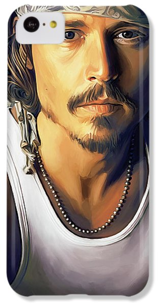 Johnny Depp Artwork IPhone 5c Case