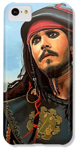 Johnny Depp As Jack Sparrow IPhone 5c Case by Paul Meijering