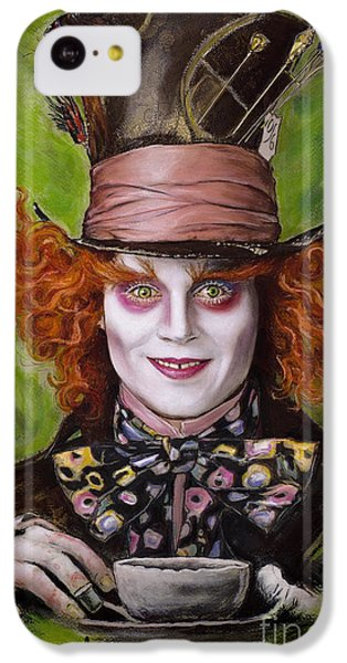 Johnny Depp As Mad Hatter IPhone 5c Case by Melanie D